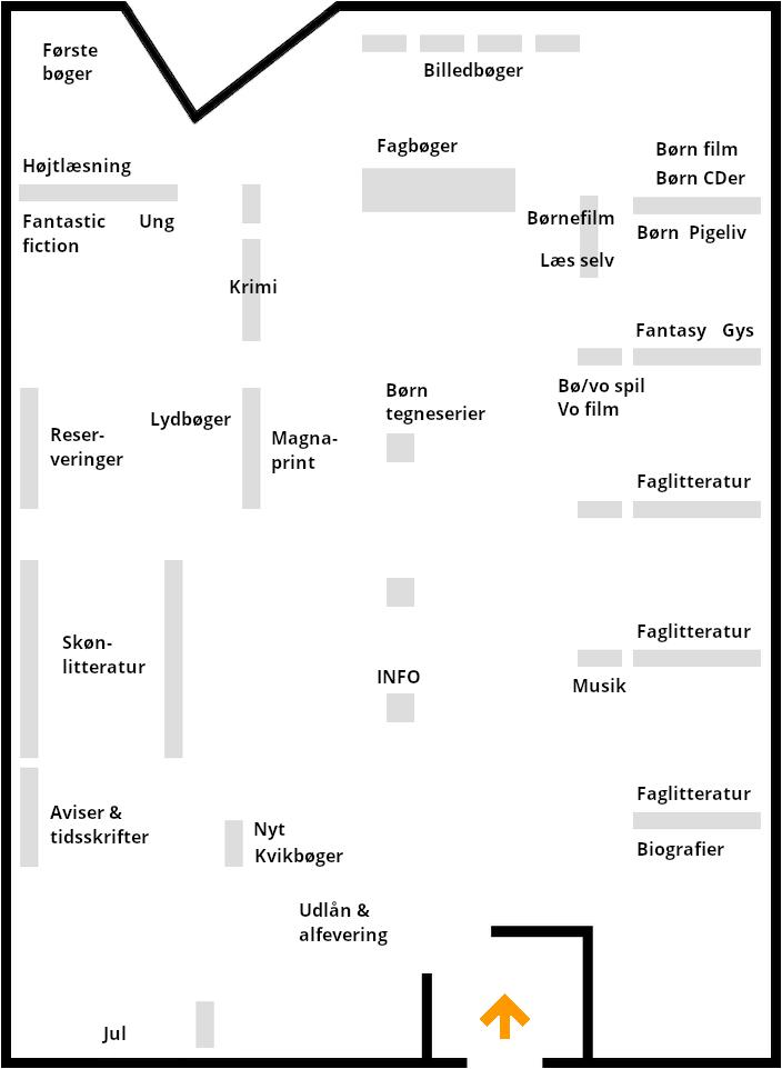 Kort over Biblioteket i Sunds
